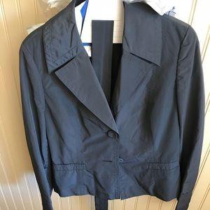 Talbots, belted, rain, blazer, jacket